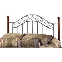 Hillsdale Martino Full Queen Poster Headboard in Smoke Silver