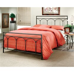 Hillsdale McKenzie King Spindle Bed in Brown Steel
