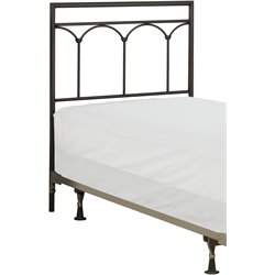 Hillsdale McKenzie Twin Spindle Headboard in Brown Steel