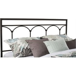 Hillsdale McKenzie Queen Spindle Headboard in Brown Steel