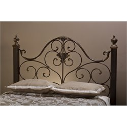 Hillsdale Mikelson Queen Poster Headboard in Aged Antique Gold