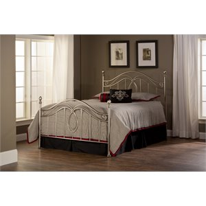 Milano Poster Bed in Silver