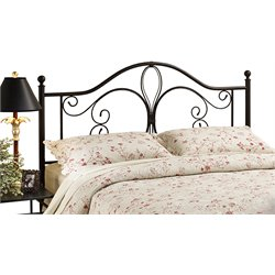 Hillsdale Milwaukee Full Queen Poster Headboard in Antique Brown