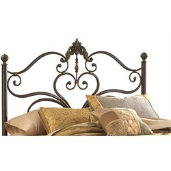 Hillsdale Newton Queen Spindle Headboard in Antique Brown