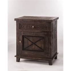 Hillsdale Pavia 1 Door End Table in Dark Walnut