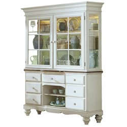 Hillsdale Pine Island China Cabinet in Old White