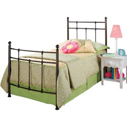 Hillsdale Providence Twin Poster Bed in Bronze