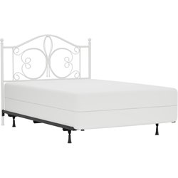 Hillsdale Ruby Full Spindle Queen Headboard in Textured White