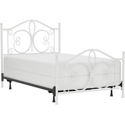 Ruby Full Poster Bed in Textured White (2)
