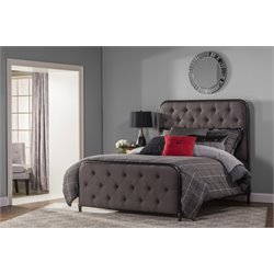 Hillsdale Salerno Upholstered Full Panel Bed in Black