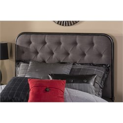 Hillsdale Salerno Upholstered Full Queen Panel Headboard in Black
