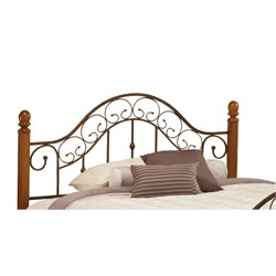 Hillsdale San Marco Full Queen Poster Headboard in Brown Copper