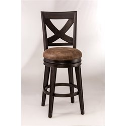 Santa Fe Faux Leather Swivel Bar Stool in Espresso