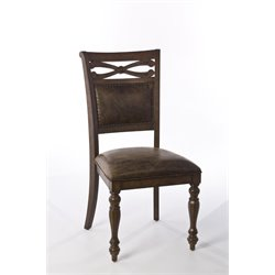 Hillsdale Seaton Springs Dining Chair in Weathered Walnut (Set of 2)