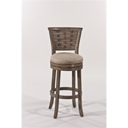 Hillsdale Thredson Swivel Bar Stool in Antique Graywash