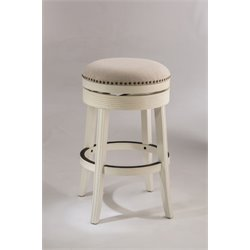 Hillsdale Tillman Swivel Bar Stool in White