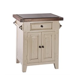 Hillsdale Tuscan Retreat Granite Top Kitchen Island in Country White
