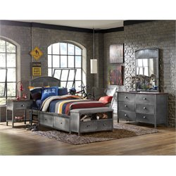 Hillsdale Urban Quarters 4 Piece Twin Panel Storage Bedroom Set