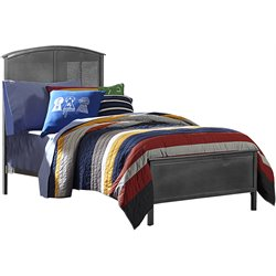Hillsdale Urban Quarters Full Panel Bed in Black Steel