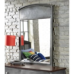 Hillsdale Urban Quarters Mirror in Black Steel