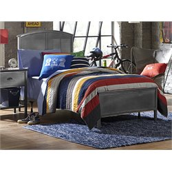 Hillsdale Urban Quarters Twin Panel Bed in Black Steel