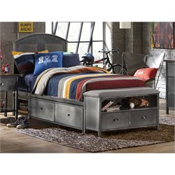 Hillsdale Urban Quarters Twin Panel Storage Bed with Bench