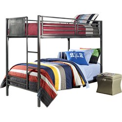 Urban Quarters Bunk Bed in Black Steel