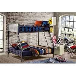 Hillsdale Urban Quarters Twin over Full Bunk Bed in Black Steel