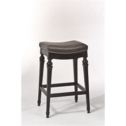 Hillsdale Vetrina Vinyl Bar Stool in Black