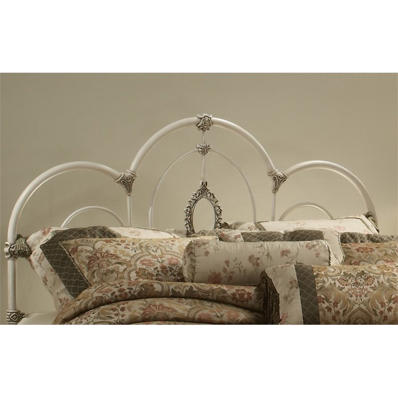 Hilale Victoria King Spindle Headboard In Antique White