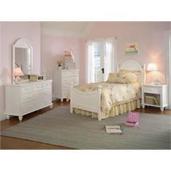 Hillsdale Westfield Twin Bedroom Set in Off White