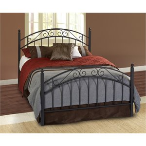 Hillsdale Willow Full Poster Bed in Textured Black