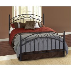 Hillsdale Willow Queen Poster Bed in Textured Black