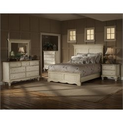 Wilshire 4 Piece Bedroom Set in Antique White
