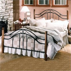 Hillsdale Furniture Winsloh Metal Poster Bed in Black Finish