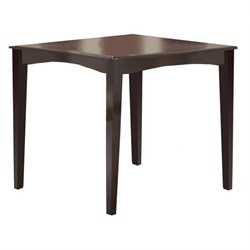 Hillsdale Tiburon Counter Height Gathering Dining Table in Espresso