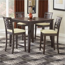 Hillsdale Tiburon 5 Piece Counter Height Table Set in Espresso