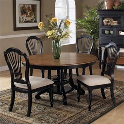 Hillsdale Wilshire 5 Piece Dining Table Set in Rubbed Black