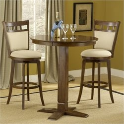 Hillsdale Dynamic Designs 3 Piece Pub Table Set with Jefferson Stools