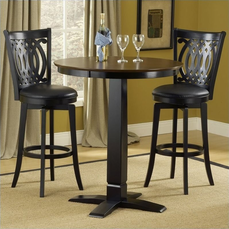 Hilale Dynamic Designs 5 Piece Pub Table And Stools Set