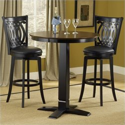Hillsdale Dynamic Designs 5 Piece Pub Table and Stools Set