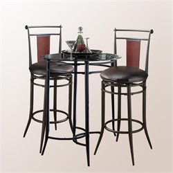 Hillsdale Mix-n-Match 3pc Pub Table Set with Midtown Stools
