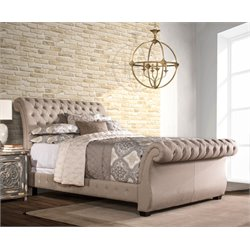 Hillsdale Bombay Upholstered Queen Bed in Linen Stone