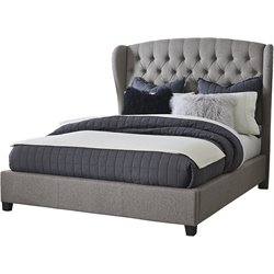 Hillsdale Bromley Upholstered Queen Bed in Orly Gray