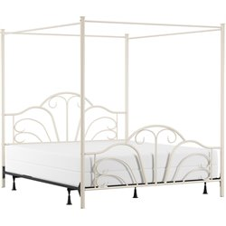 Hillsdale Dover Metal King Bed in Cream