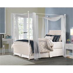 Hillsdale McArthur Queen Panel Canopy Bed in Oatmeal