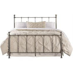 Hillsdale Molly Queen Metal Panel Bed in Black Steel