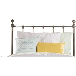 Hillsdale Molly Metal Panel Headboard in Black Steel