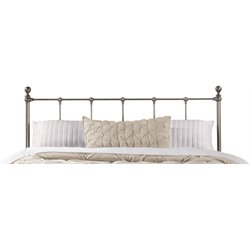 Hillsdale Molly Full Metal Duo Panel Headboard in Black Steel