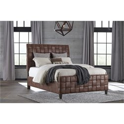 Hillsdale Riley Upholstered King Bed in Light Brown